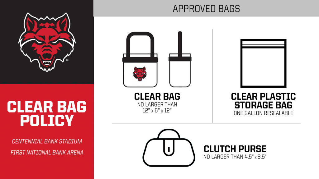 A-State's Clear Bag Policy