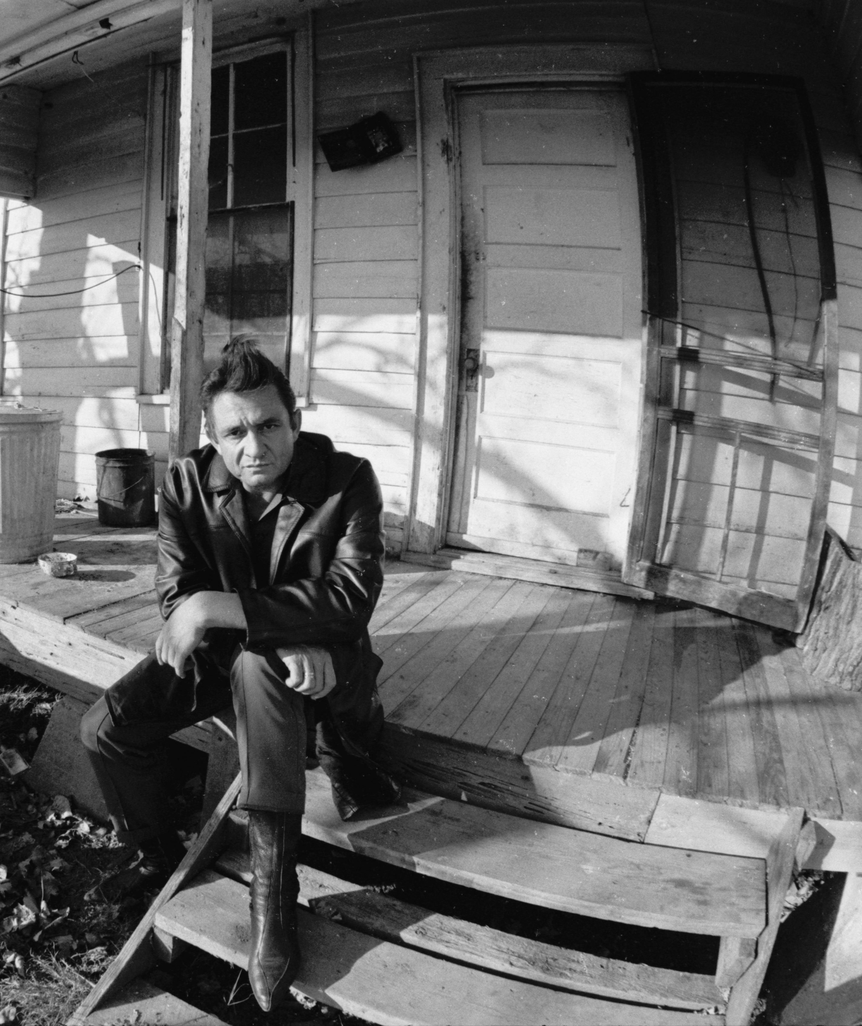 Johnny Cash on the Back Porch of the Boyhood Home