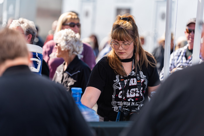 An attendee of the festival